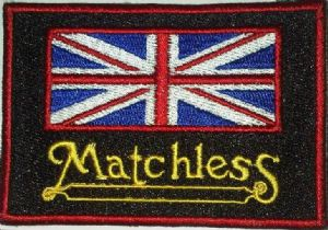 Matchless Union Flag sew-on embroidered patch (yy)